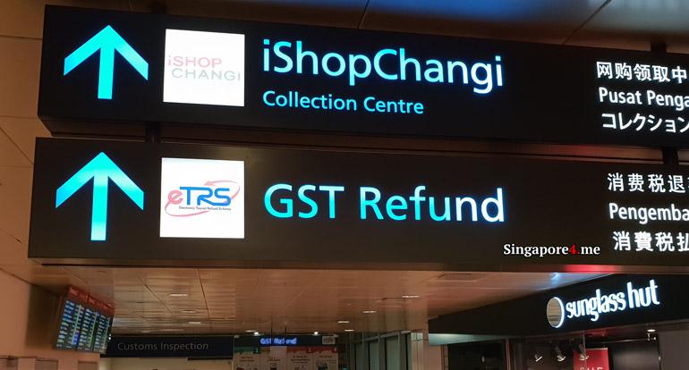 Указатель в аэропорту Чанги в Сингапуре